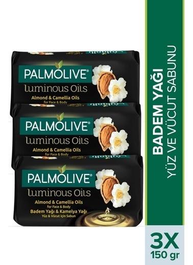 Palmolive Palmolive Luminous Oils Badem Yağı ve Kamelya Yağı 3'lü Yüz Ve Vücut Sabunu150 Gr Renksiz